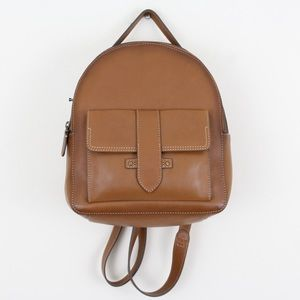 Frye Genuine Leather Small Domed Olivia Backpack